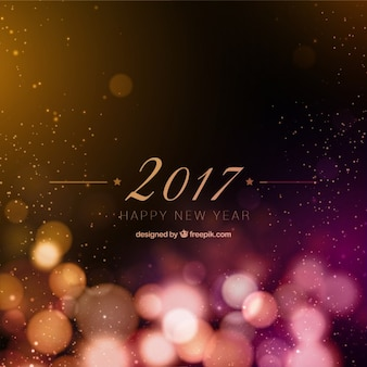 New year 2017 bokeh background