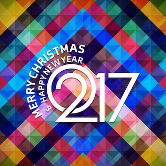 New year 2017, geometric background