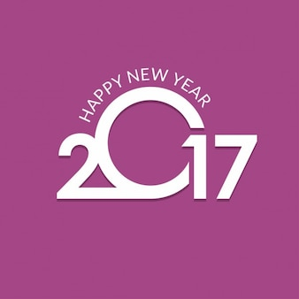 New year 2017, purple background