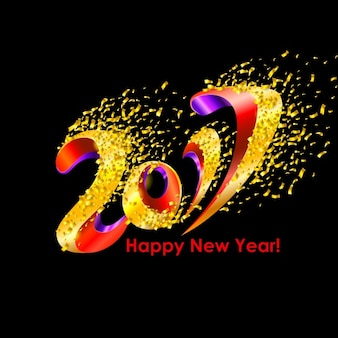 New year background design