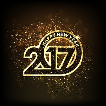 New year background, luxury numbers