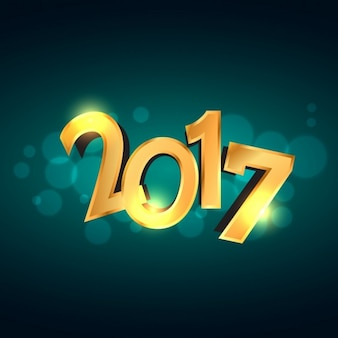 New year background with 3d golden numbers