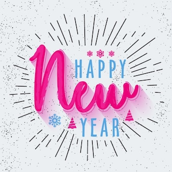 New year background with blue and pink details