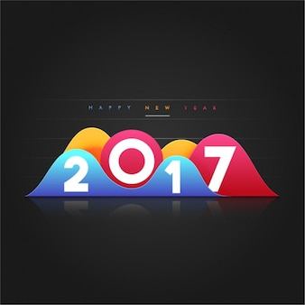 New year background with color geometric forms