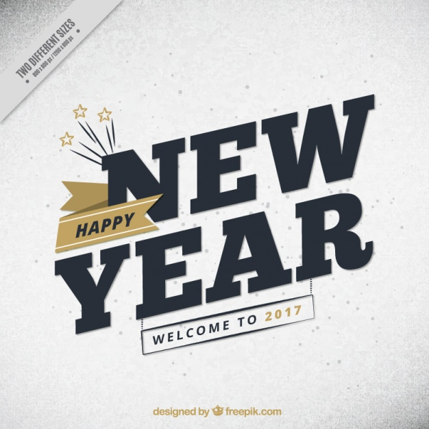 New year background with golden details in vintage style