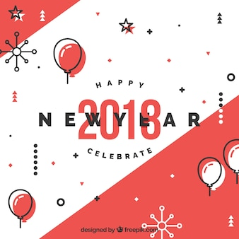 New year background with original style