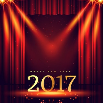New year background with theater and lights