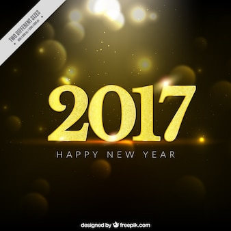 New year bokeh background with golden details