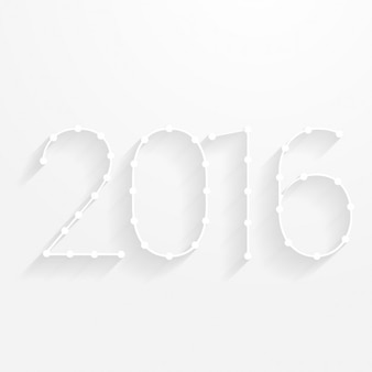 New year card with minimalistic shapes