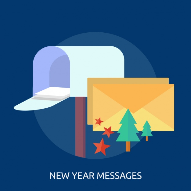 New year messages background design
