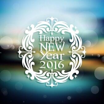 New year ornamental background
