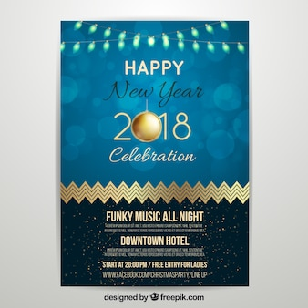 New year party poster 2018