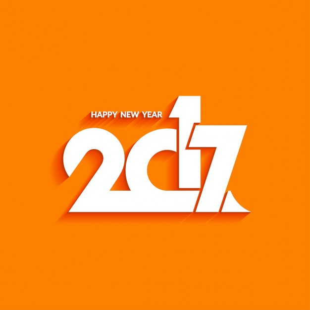 New year with an orange background