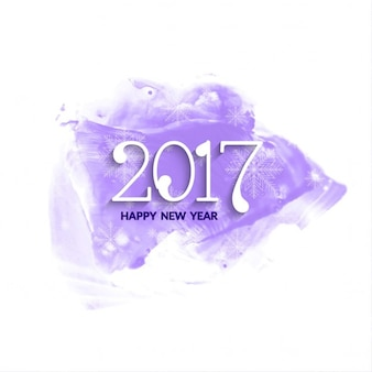 New year with purple watercolors