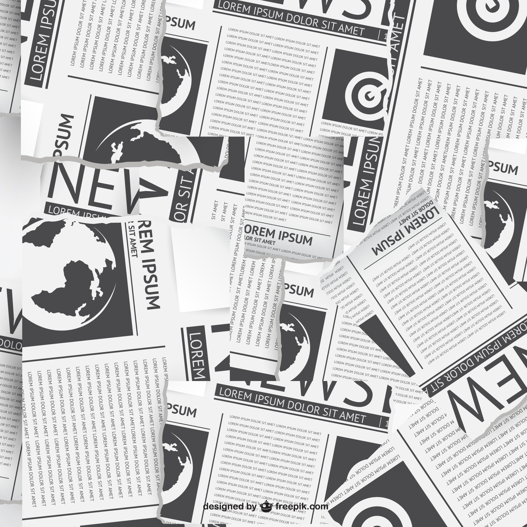 Newspapers collage