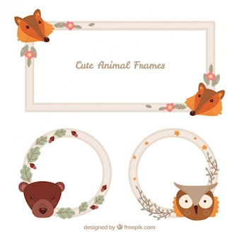 Nice animal faces frames