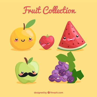 Nice assortment of funny fruit characters