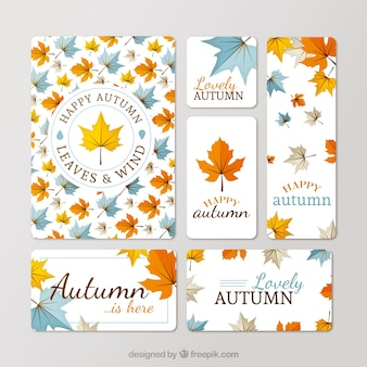 Nice autumnal stationery