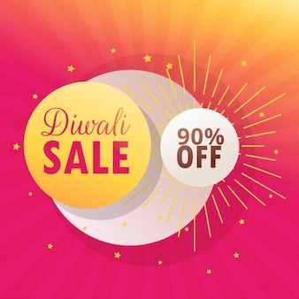 Nice background for diwali discounts