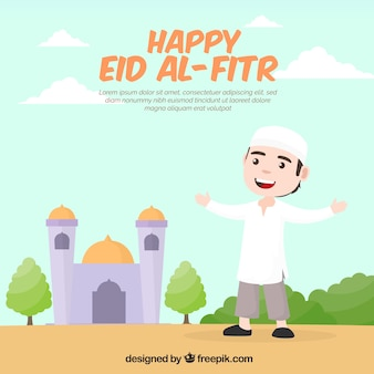 Nice background of happy eid al-fitr