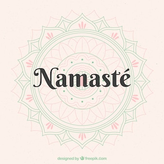 Nice background of namaste with mandala sketch