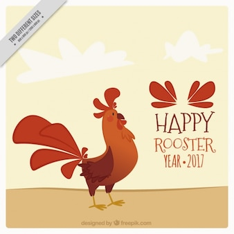 Nice background of the rooster year 2017