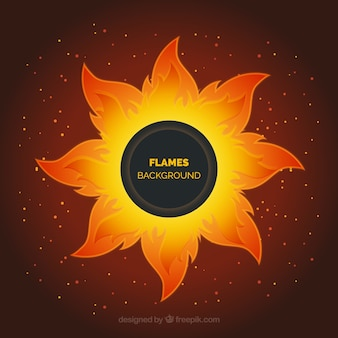 Nice background with abstract flame