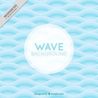 Nice background with blue waves in flat style