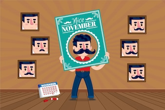 Nice background with frames for movember
