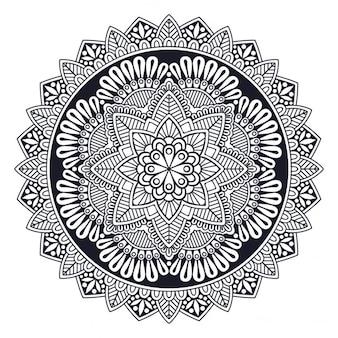 Nice black and white mandala