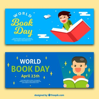 Nice book day banners