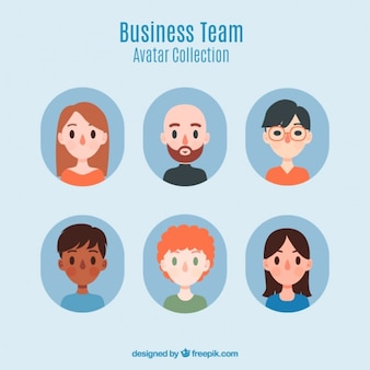 Nice business team avatar collection