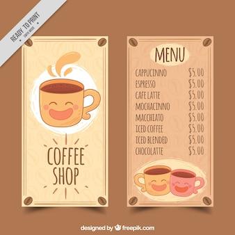Nice cafe menu