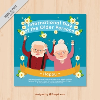 Nice card of international older persons day