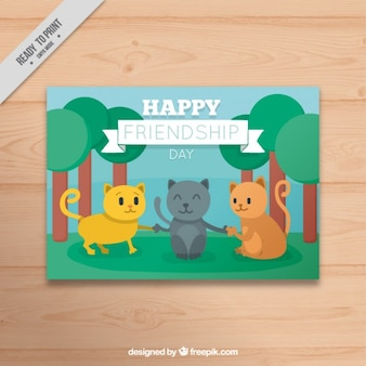 Nice cat friends card