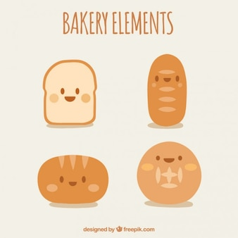 Nice characters of bakery