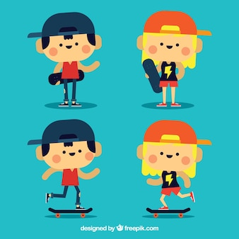 Nice characters of skaters