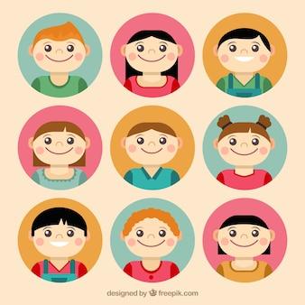 Nice children avatar collection