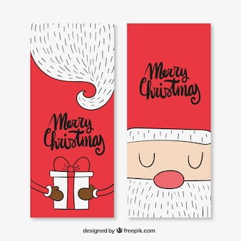 Nice christmas cards of santa claus