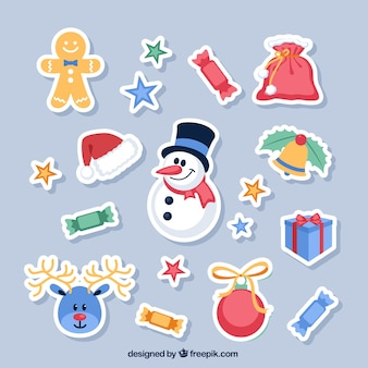 Nice christmas labels collection