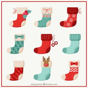 Nice christmas socks collection