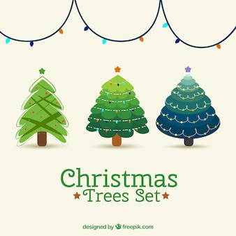 Nice christmas trees set