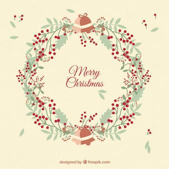 Nice christmas wreath card