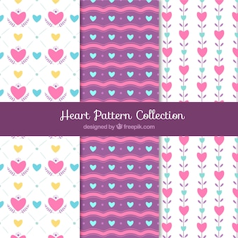 Nice collection of patterns with hearts