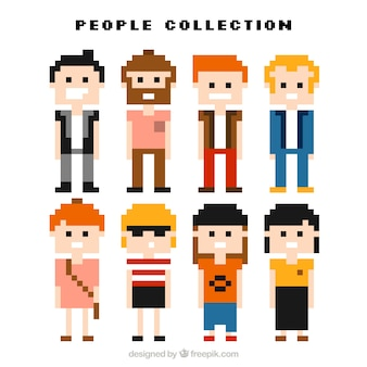 Nice collection of pixelated men and women