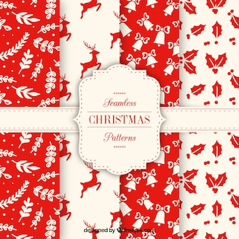 Nice collection of red christmas patterns