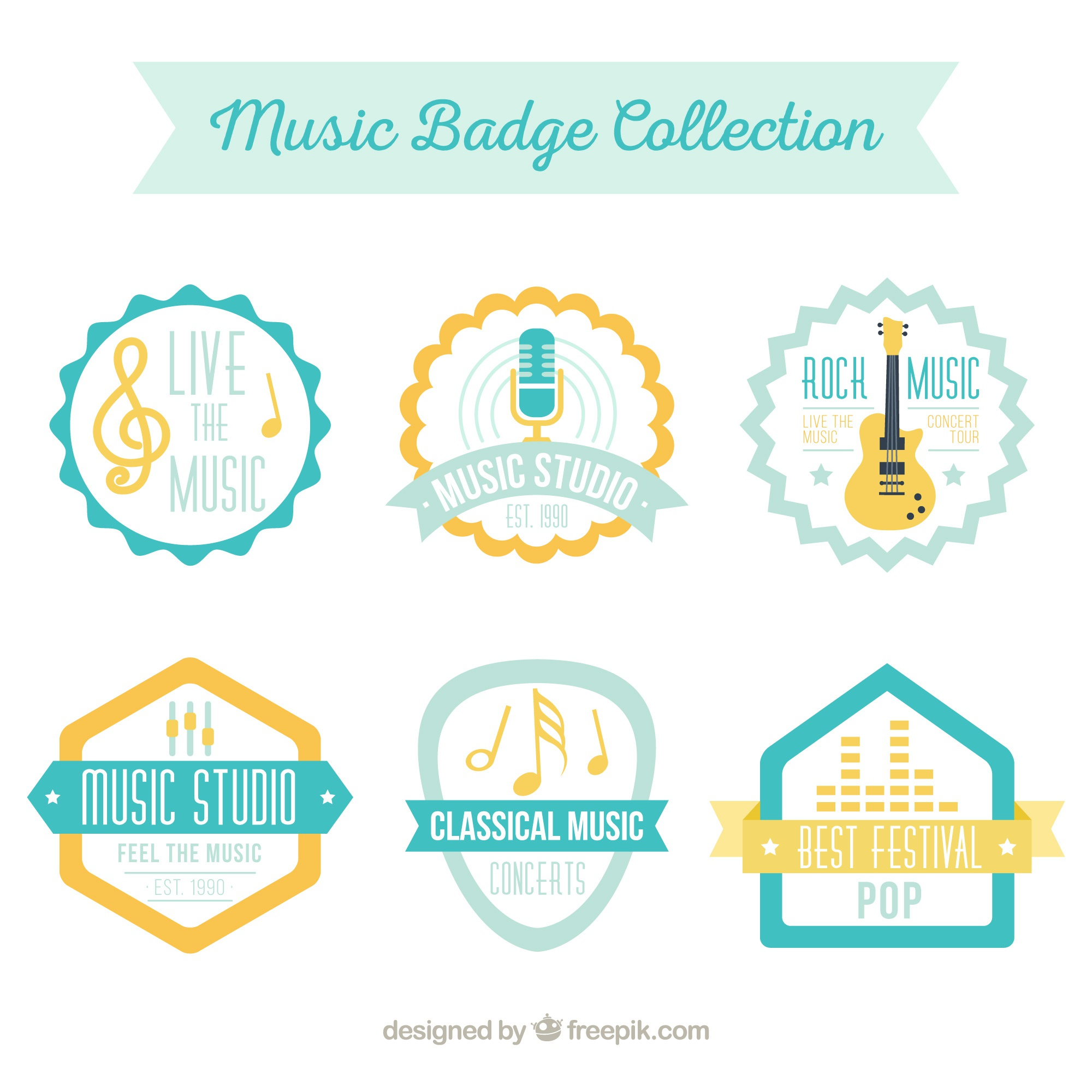 Nice collection of vintage music stickers