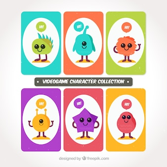 Nice colorful video game characters