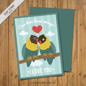 Nice couple of parrots card