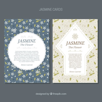 Nice decorative cards with jasmine